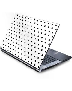 White and Black Polka Dots Generic Laptop Skin