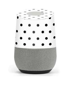 White and Black Polka Dots Google Home Skin