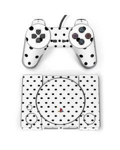 White and Black Polka Dots PlayStation Classic Bundle Skin