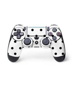 White and Black Polka Dots PS4 Pro/Slim Controller Skin