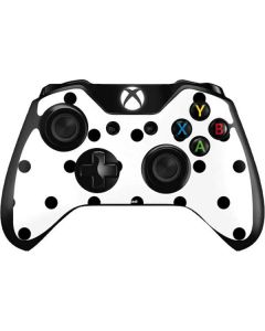 White and Black Polka Dots Xbox One Controller Skin