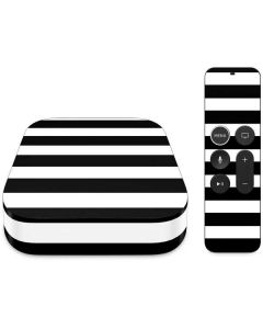 White and Black Stripes Apple TV Skin