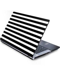 White and Black Stripes Generic Laptop Skin
