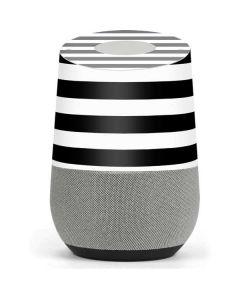 White and Black Stripes Google Home Skin