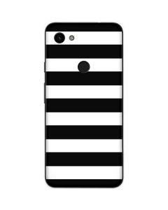 White and Black Stripes Google Pixel 3a Skin
