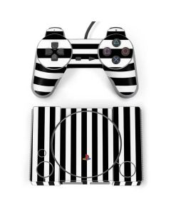White and Black Stripes PlayStation Classic Bundle Skin