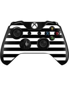 White and Black Stripes Xbox One Controller Skin