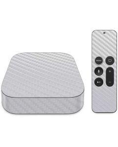 White Carbon Fiber Apple TV Skin