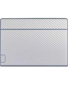 White Carbon Fiber Galaxy Book Keyboard Folio 12in Skin