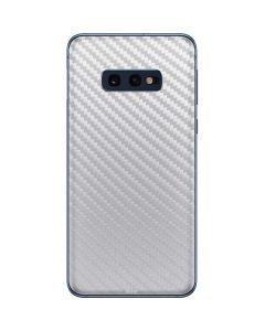 White Carbon Fiber Galaxy S10e Skin