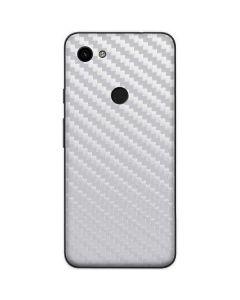 White Carbon Fiber Google Pixel 3a Skin