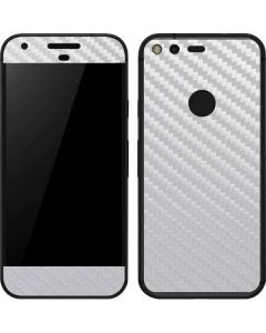 White Carbon Fiber Google Pixel Skin