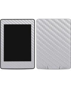 White Carbon Fiber Amazon Kindle Skin