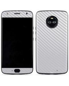 White Carbon Fiber Moto X4 Skin