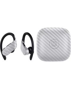 White Carbon Fiber PowerBeats Pro Skin