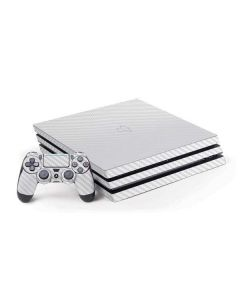 White Carbon Fiber PS4 Pro Bundle Skin