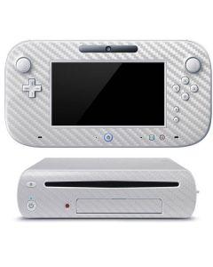 White Carbon Fiber Wii U (Console + 1 Controller) Skin