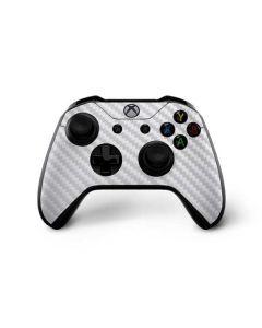 White Carbon Fiber Xbox One X Controller Skin