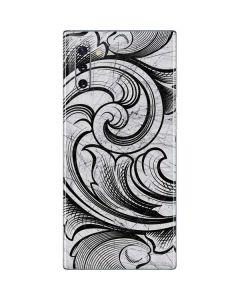 White Flourish Galaxy Note 10 Skin