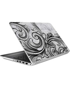 White Flourish HP Pavilion Skin