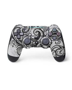 White Flourish PS4 Pro/Slim Controller Skin