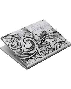 White Flourish Surface Book Skin