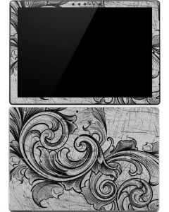 White Flourish Surface Pro (2017) Skin