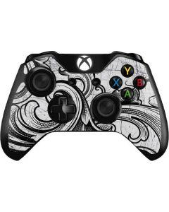 White Flourish Xbox One Controller Skin