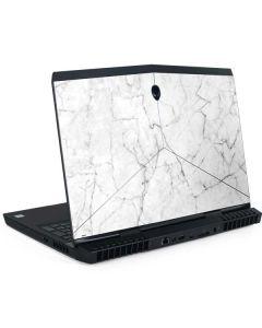 White Marble Dell Alienware Skin
