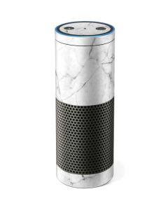 White Marble Amazon Echo Skin