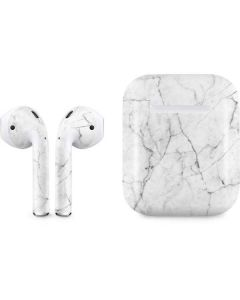 White Marble Apple AirPods Skin