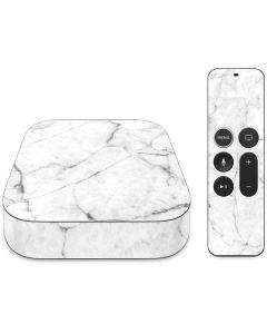 White Marble Apple TV Skin