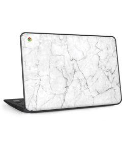White Marble HP Chromebook Skin
