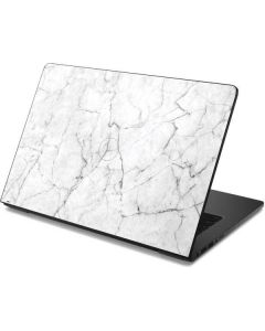 White Marble Dell Chromebook Skin