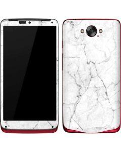 White Marble Motorola Droid Skin