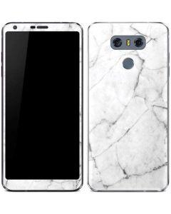 White Marble LG G6 Skin