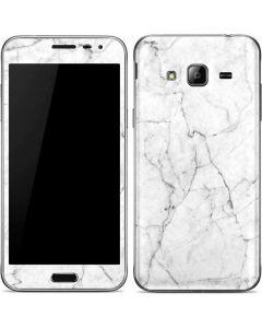 White Marble Galaxy J3 Skin