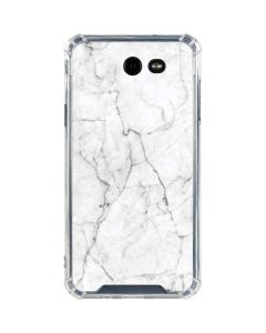 White Marble Galaxy J7 (2017) Clear Case