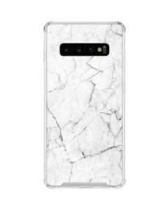 White Marble Galaxy S10 Clear Case
