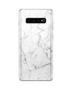 White Marble Galaxy S10 Plus Skin