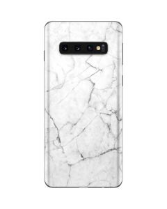 White Marble Galaxy S10 Skin
