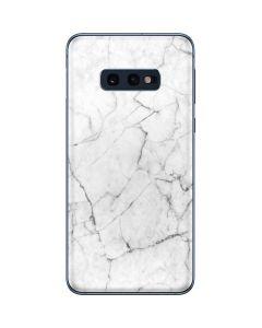 White Marble Galaxy S10e Skin