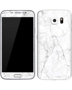 White Marble Galaxy S6 Skin