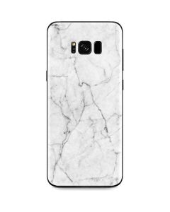 White Marble Galaxy S8 Skin