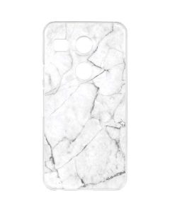 White Marble Google Nexus 5X Clear Case