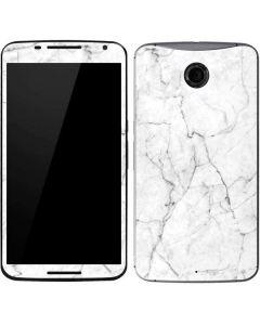 White Marble Google Nexus 6 Skin