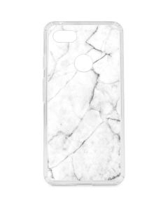 White Marble Google Pixel 3 XL Clear Case