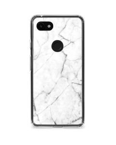 White Marble Google Pixel 3a Clear Case