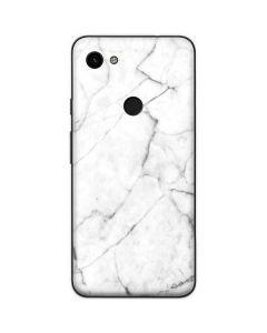 White Marble Google Pixel 3a Skin