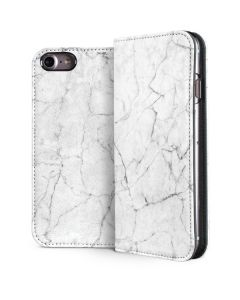 White Marble iPhone 7 Folio Case